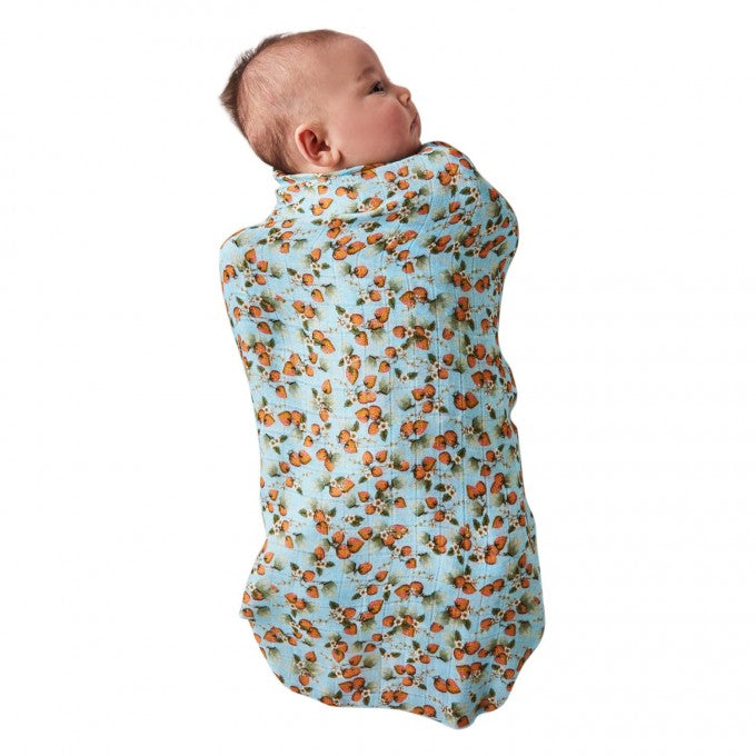 Kip and Co | Bamboo Baby Swaddle | The Patch Blue