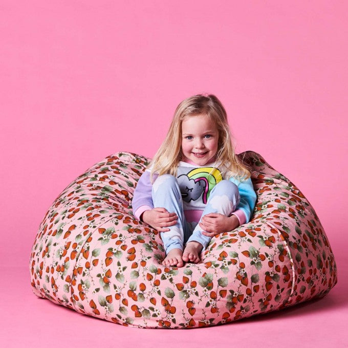 Kip and Co | Canvas Beanbag | The Patch Peach