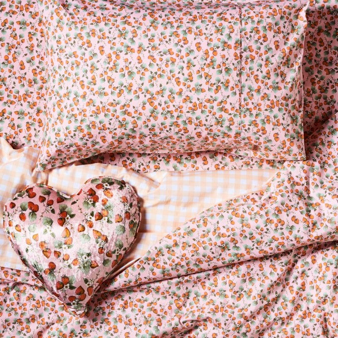Kip and Co | Fitted Sheet | Single | The Patch Peach