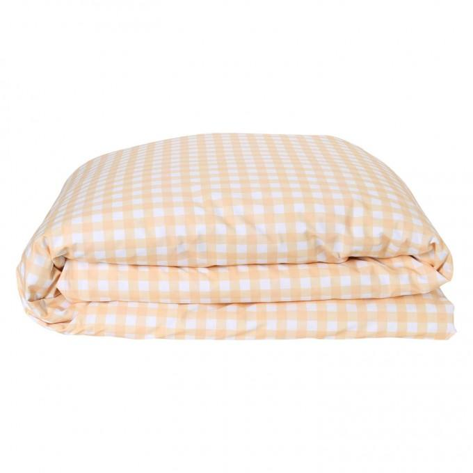 Kip and Co | Quilt Cover | King Single/Double | The Patch Peach rv Gingham