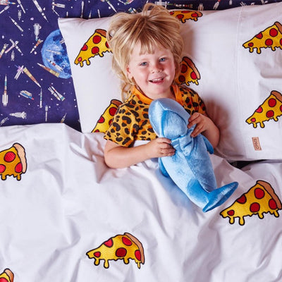 Kip and Co | Quilt Cover | King Single/Double | Margherita Pizza Embroidered