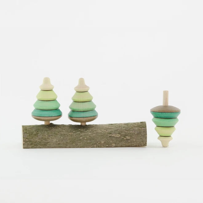 Mader | 3 Tree Spinning Tops on Branch
