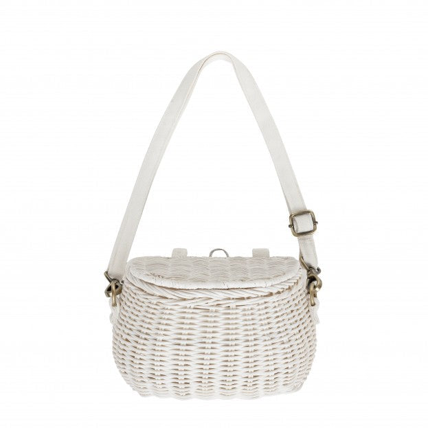 Olli Ella | Minichari Bag | White Rattan