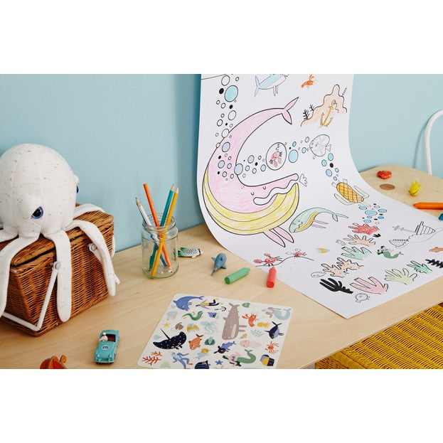 Olli Ella | Playpa | Ocean | Art & Craft Colouring In Paper Roll