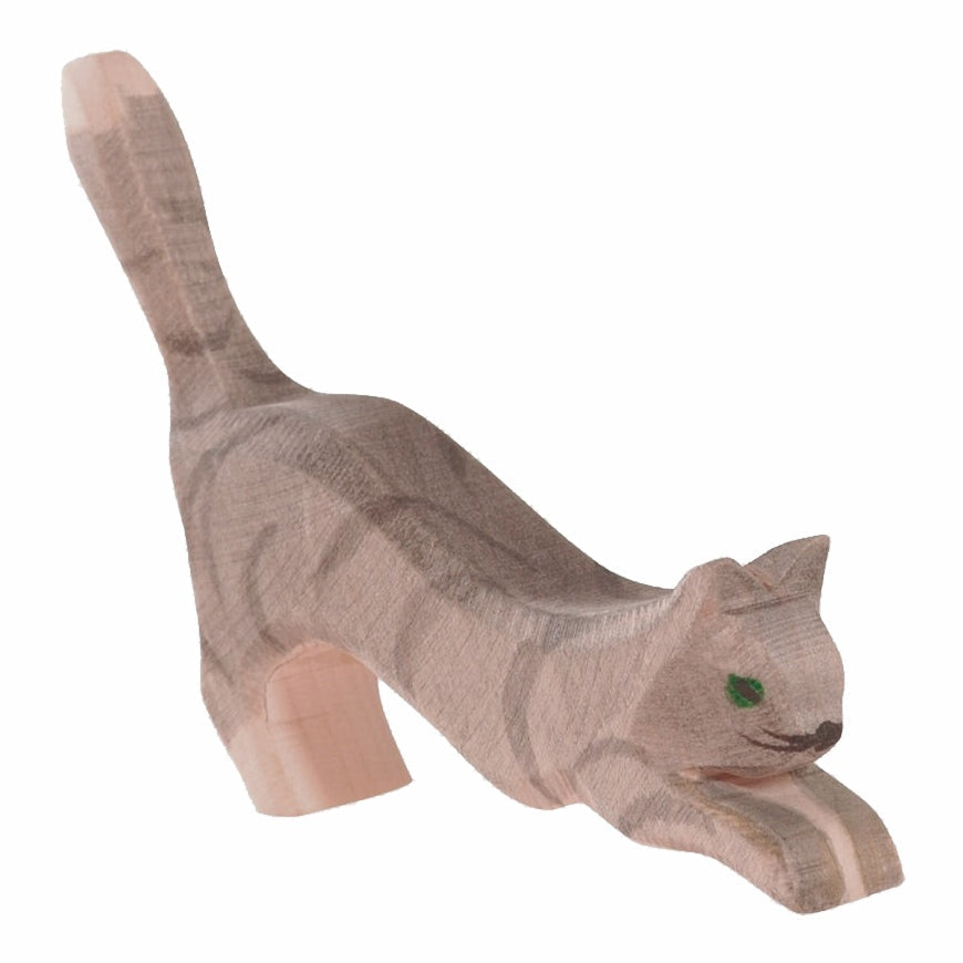 Ostheimer | Wooden Toy | Cat Jumping or Pouncing