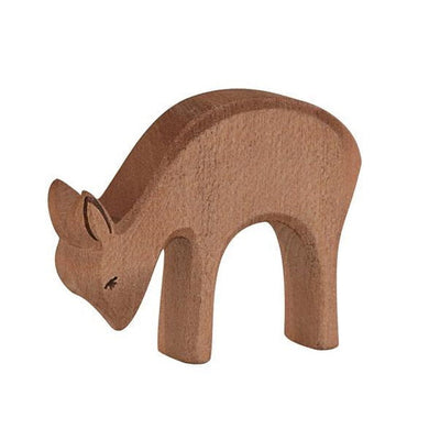 Ostheimer Deer Eating Wooden Toy Animal