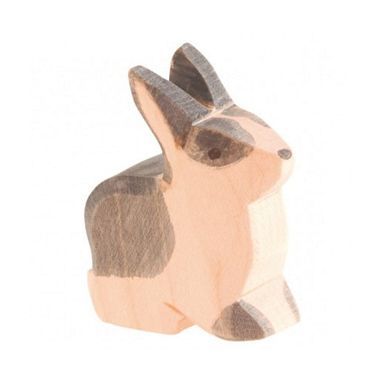 Ostheimer | Wooden Toy | Rabbit Black and White Sitting