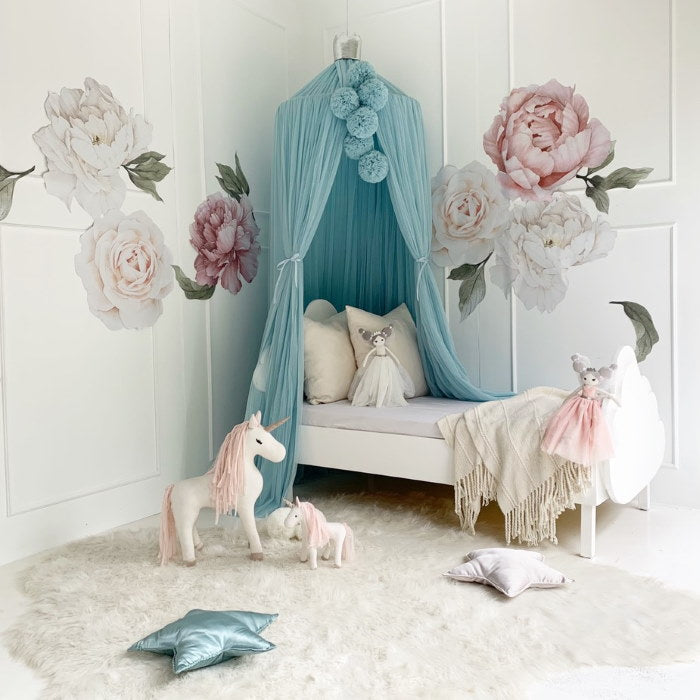 Spinkie Baby | Pom Garland | Light Blue
