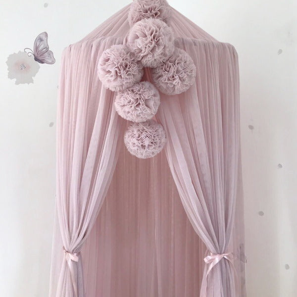 Spinkie Baby | Pom Garland | Pale Rose