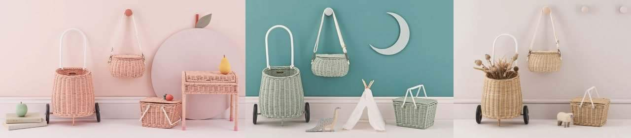 Olli Ella Baskets, Luggys, Doll Houses, & More