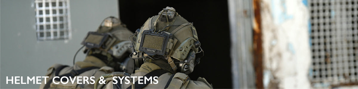 tactical helmet covers and systems