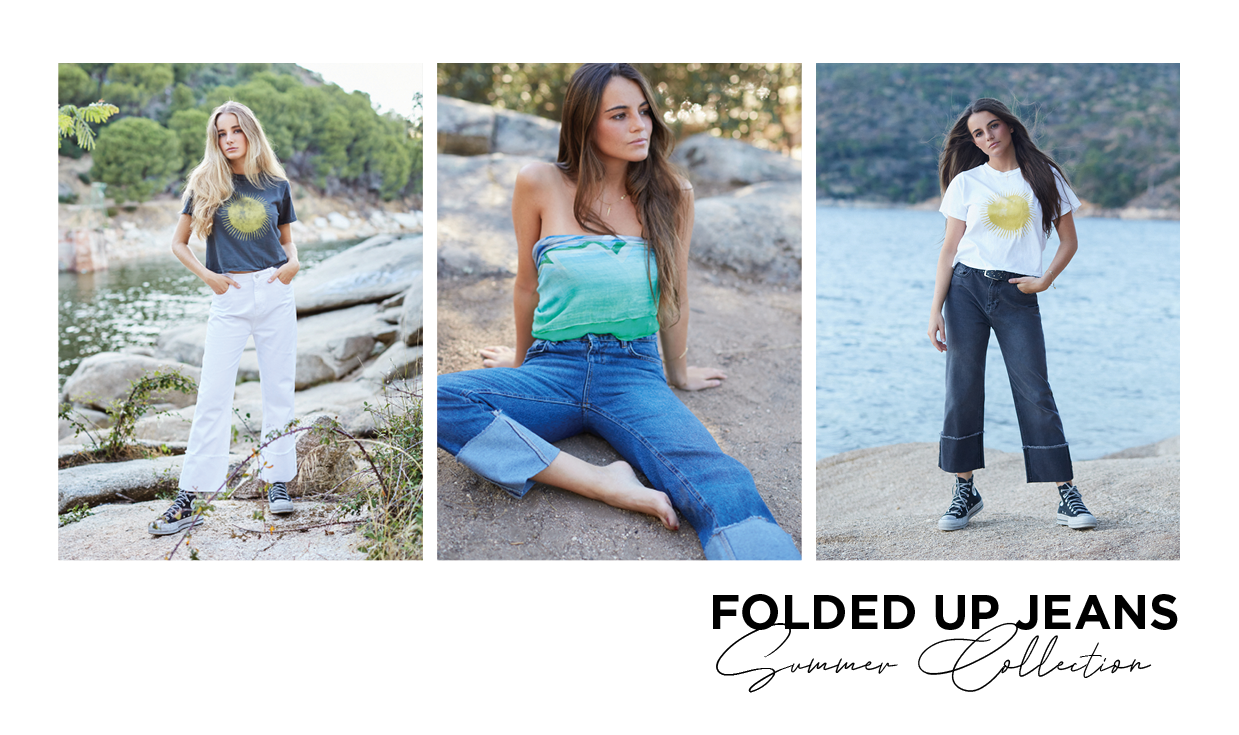 folded up jeans