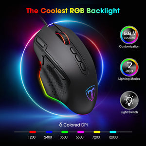 Gaming Mouse Wired 12000 DPI Ergonomic