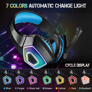 USB 3.5mm Wired Gaming Headset With Omni-Directional Mic