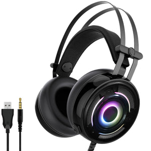 3.5mm + USB Wired Gaming Headset With Mic