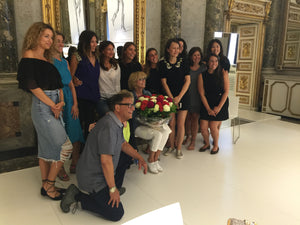 We begin the Autumn/Winter 2016 Season at a Birthday Party with Stuart Weitzman & his sales team