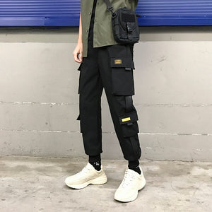 Men Winter Thick Warm Casual Trousers Men Style Loose Cargo Pants Fashion Skateboard Pockets Zipper Hip Hop Pants Men