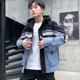 2019 spring and autumn jacket Coats for men casual fashion Mens Hooded Windbreaker Streetwear Hip Hop