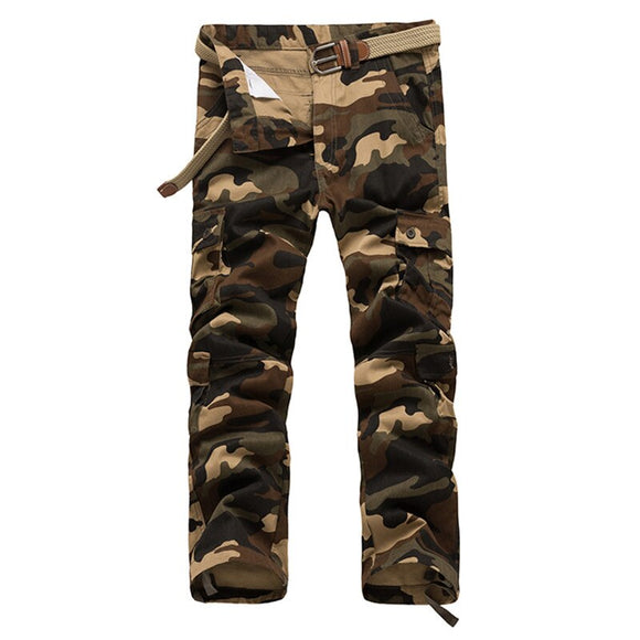 2018 New Man Cargo Pants Male Multi-Pockets Casual Camouflage Trousers Army Military Pantalon Cargo Homme Fashion Clothing