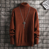 Sweater Men Turtleneck Mens Sweaters Winter Clothes Harajuku Korean Style High Fashion Males Pullover