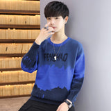 Round Neck Pullover Men's Winter Sweater Printed letter Patchwork Hip Hop Sweaters Men's Wool Blouses Sweater