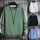 Autumn Sweatshirt Men 2021 New Casual Hoodies High Streetwear Mens Patchwork Harajuku Sweatshirts Male Pullover Tops Clothing