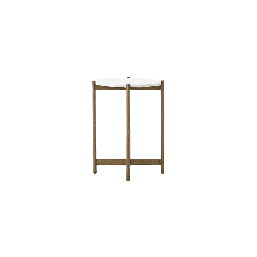Hewitt Accent Table | Brass