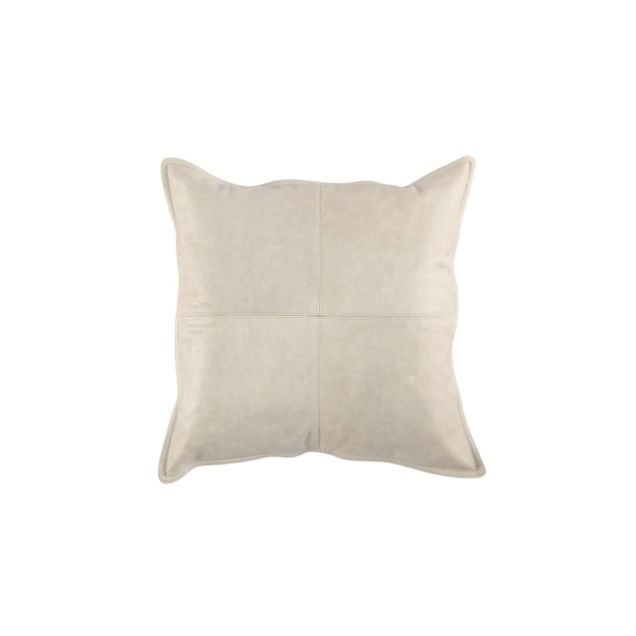 Worn Leather Pillow | Stone