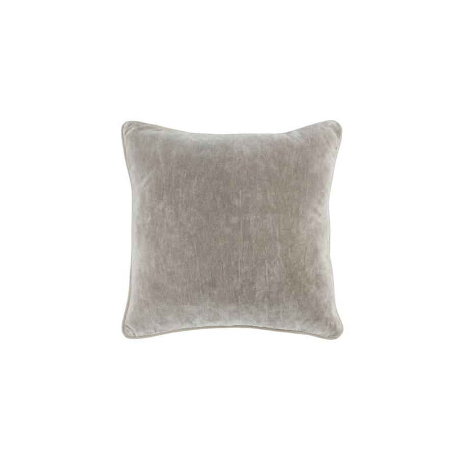 Heritage Velvet Pillow | Smoke