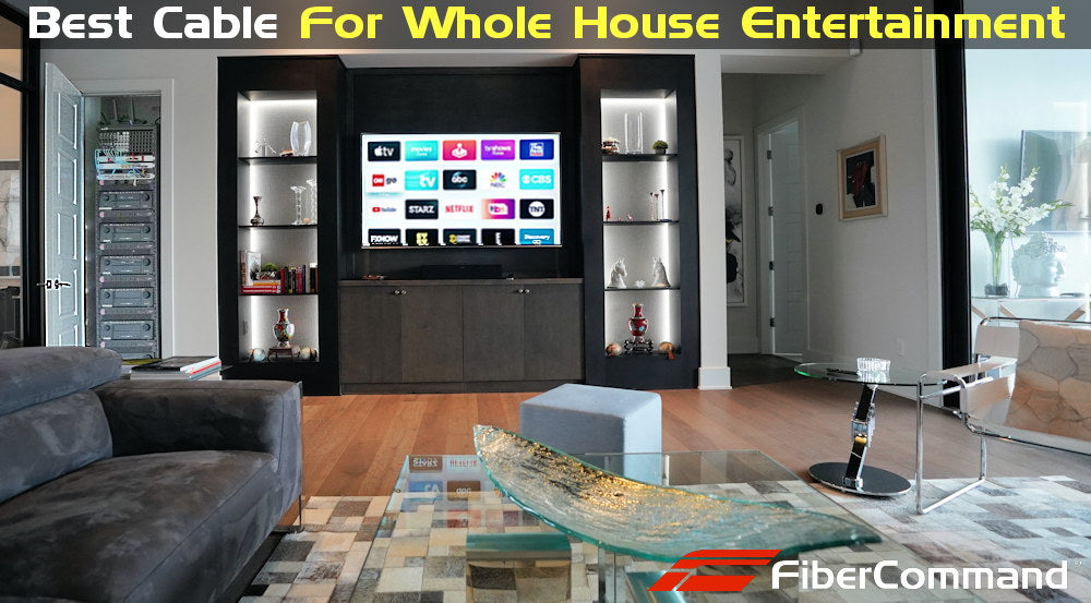 best smart tv setup in living room with internet connection plus surround sound