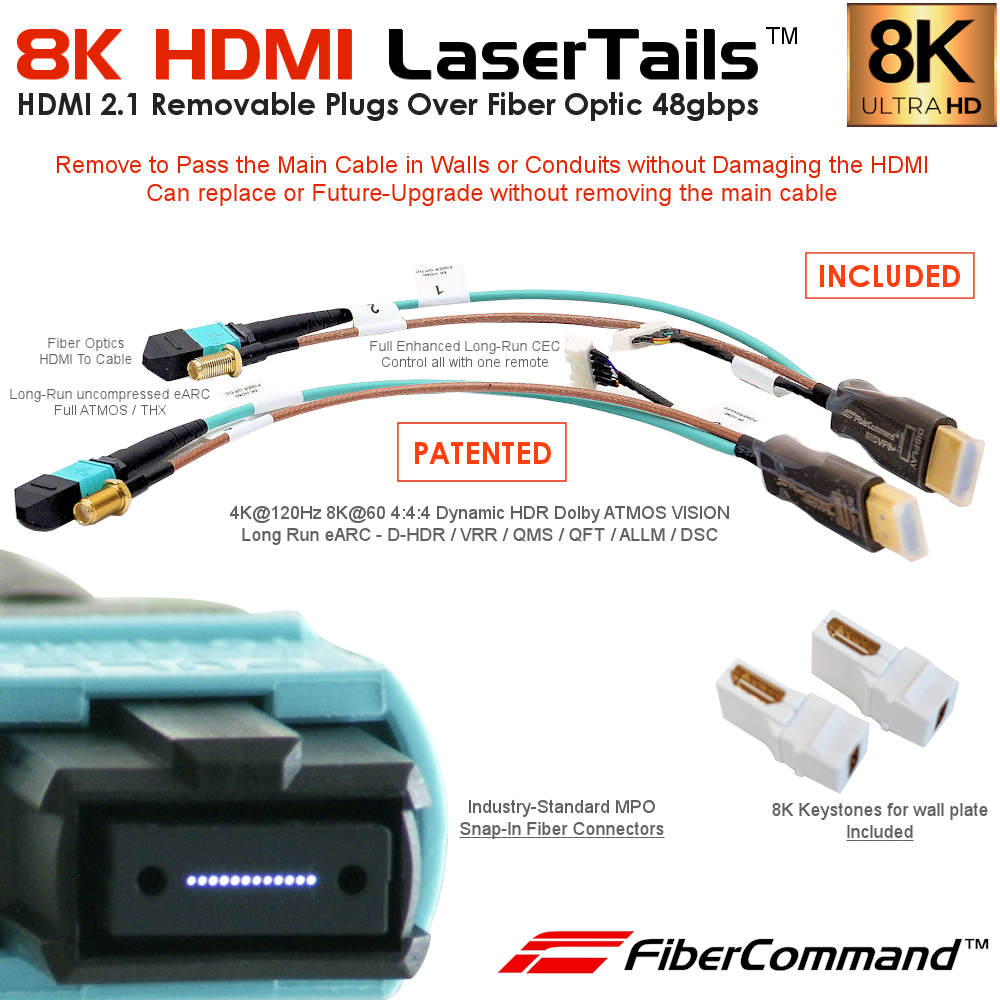 just-add-power-extenders fiber optic hdmi cable extender 8k 48gbps earc arc cec vision atmos certified
