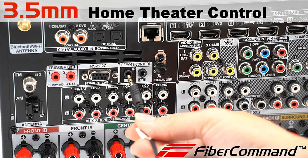 kramer fiber optic hdmi cables ultra speed home theater application example