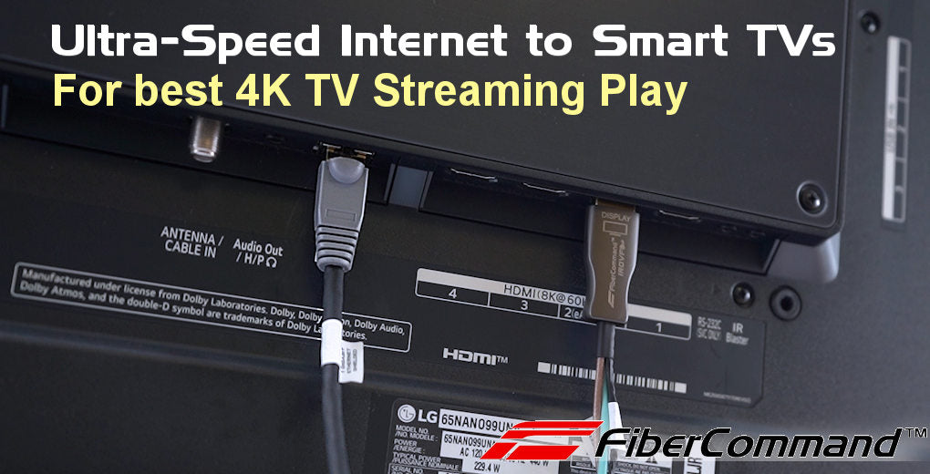 kramer how to use fiber optic hdmi cable for 4k 8k smart tv connection