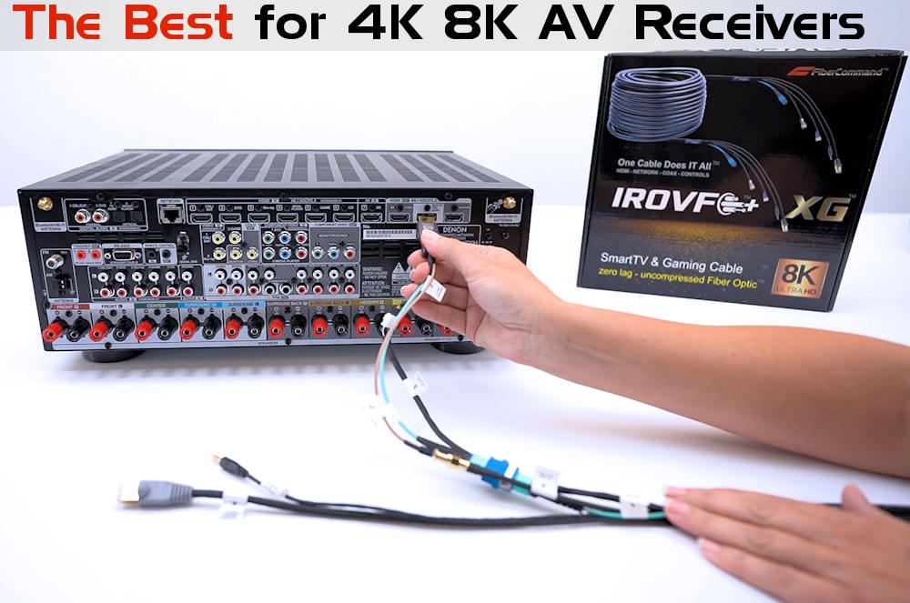 kramer how to use fiber optic hdmi cable with av receiver home theater systems