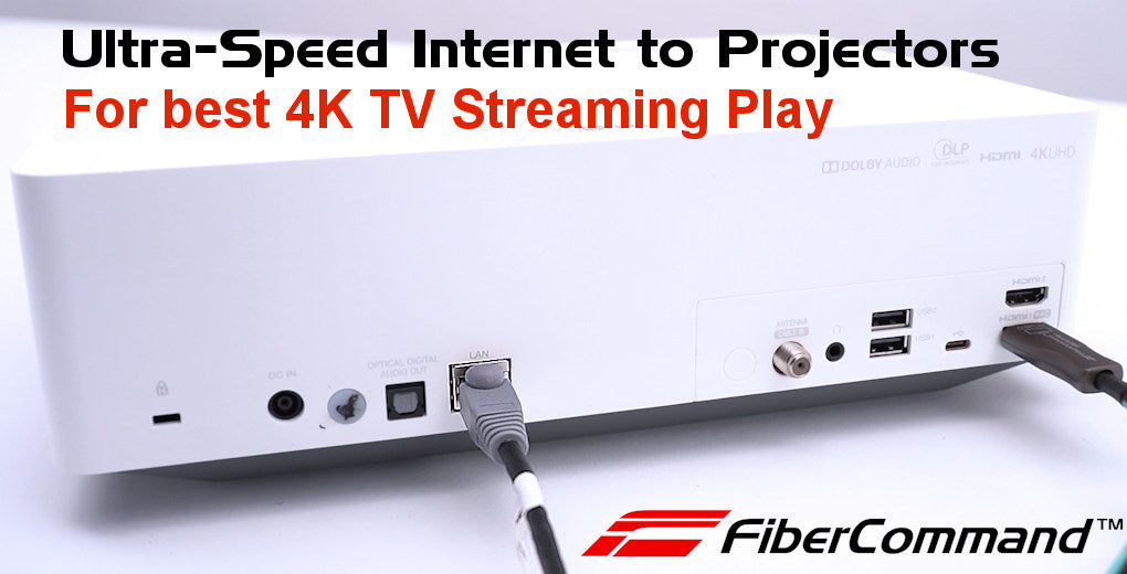 kramer how to use fiber optic hdmi cables to connect projectors for home theater systems
