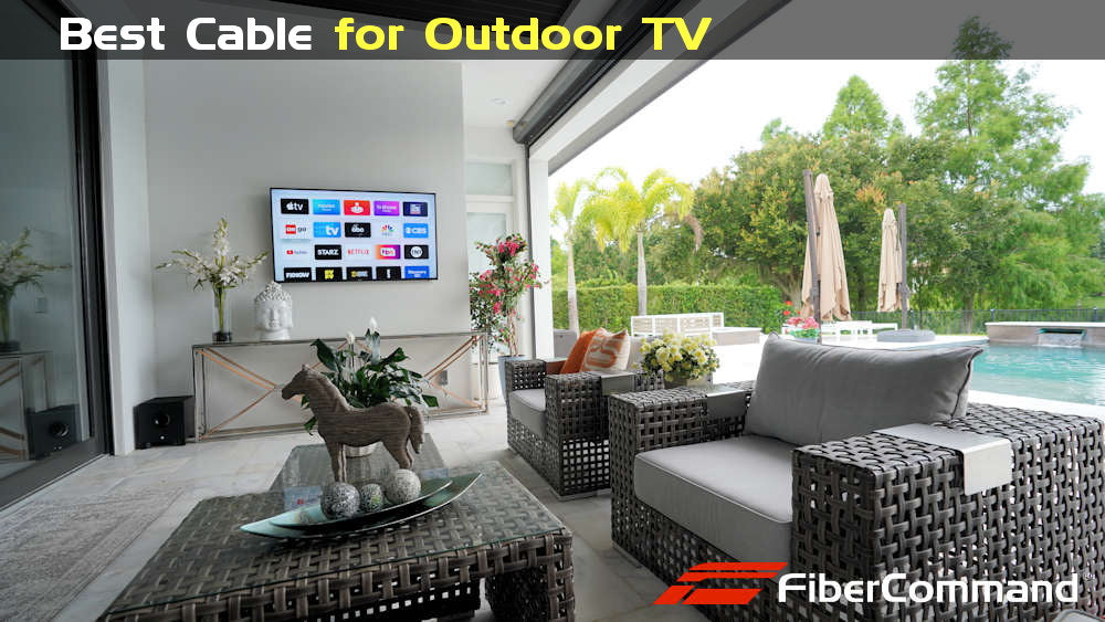 kramer use fiber optic hdmi cable for outdoor home theater tv projector installation