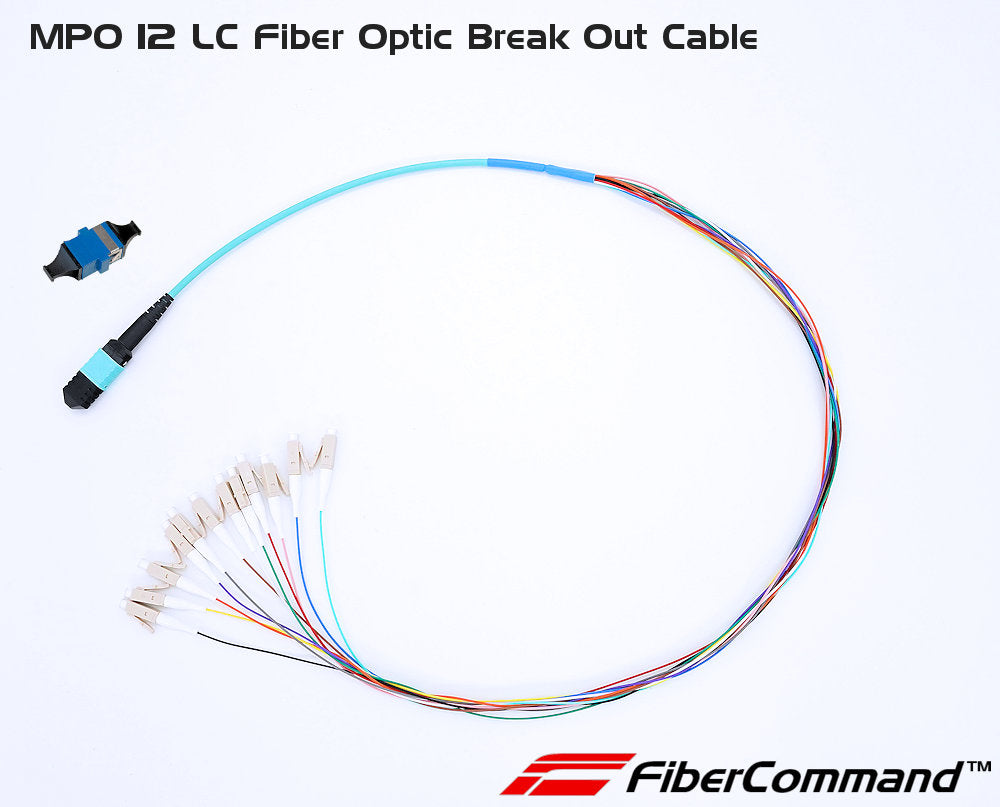 MPO-12LC Break Out Pig Tail Fiber Optic Adapter