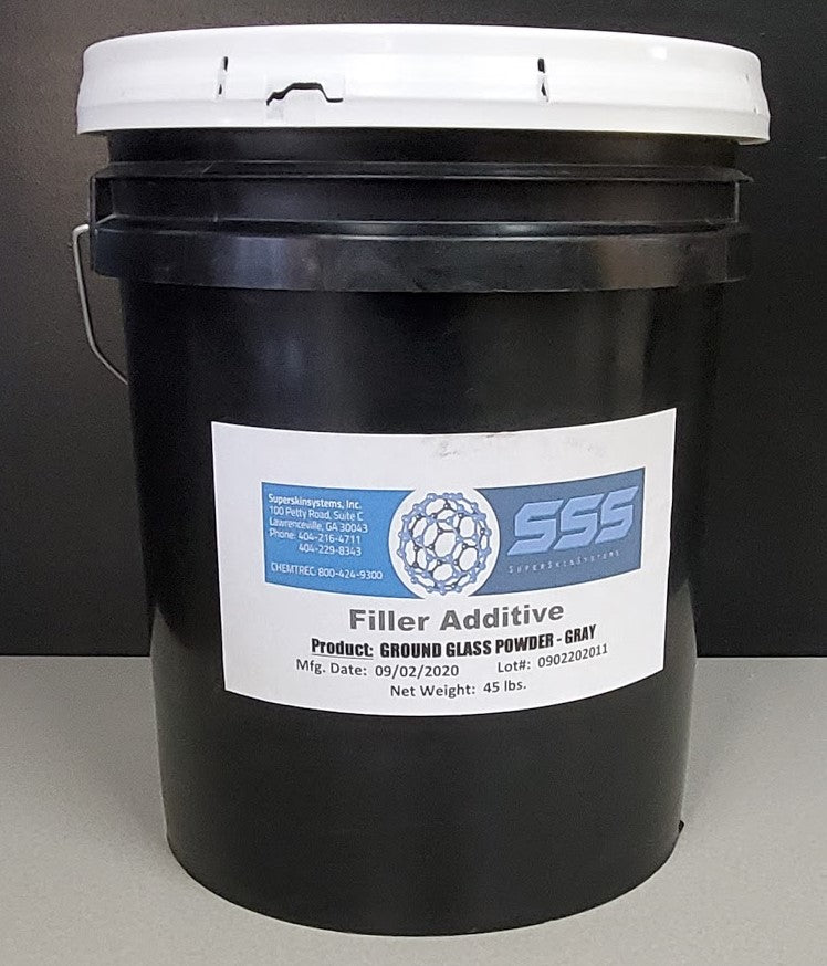 GROUND GLASS POWDER Filler Additive 45lbs