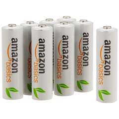 AmazonBasics 8 Pack AA Ni-MH Pre-Charged Rechargeable Batteries