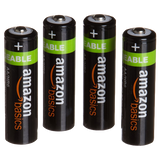AmazonBasics AA NiMH Precharged Rechargeable Batteries 4-Pack