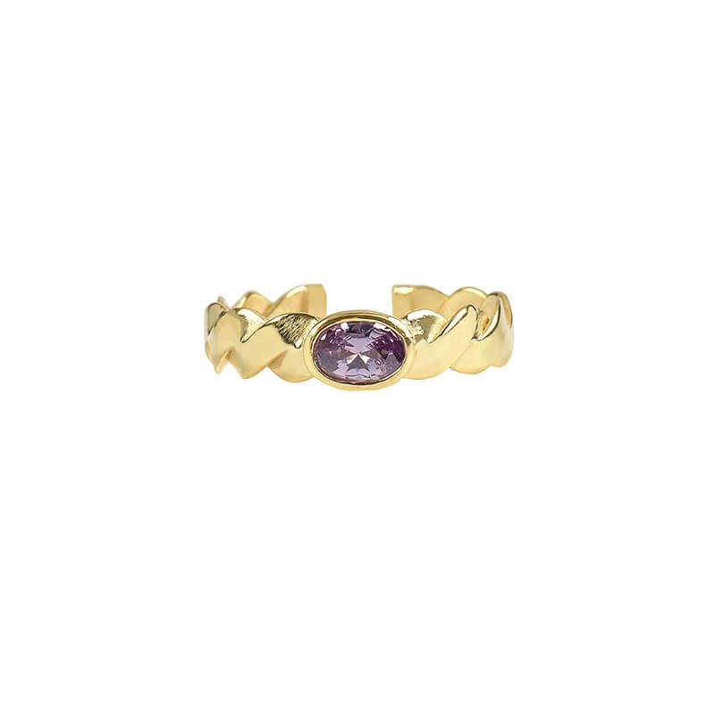 Anillo Braid Stone Amatista - Oui Petit