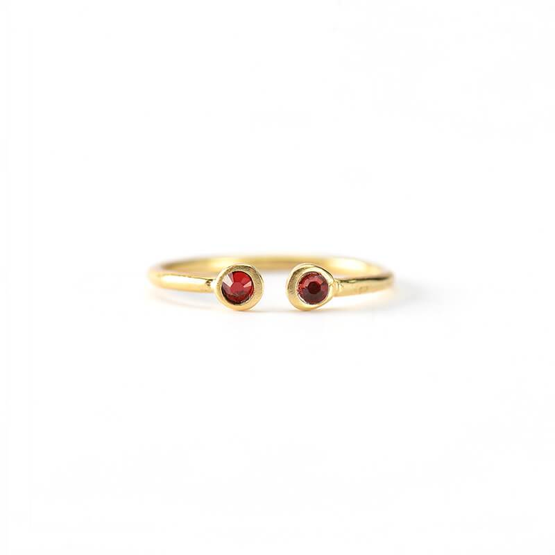 Anillo Maxi Twin Swarovski Red - Oui Petit