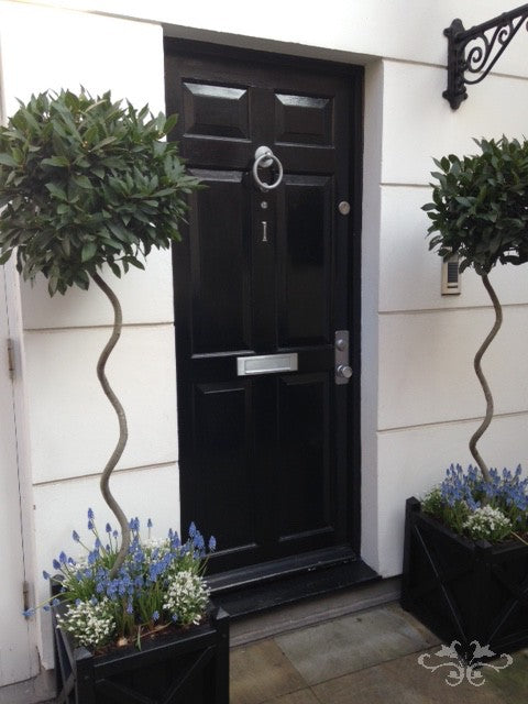 Floral styling with spring plants for exteriors and gardens
