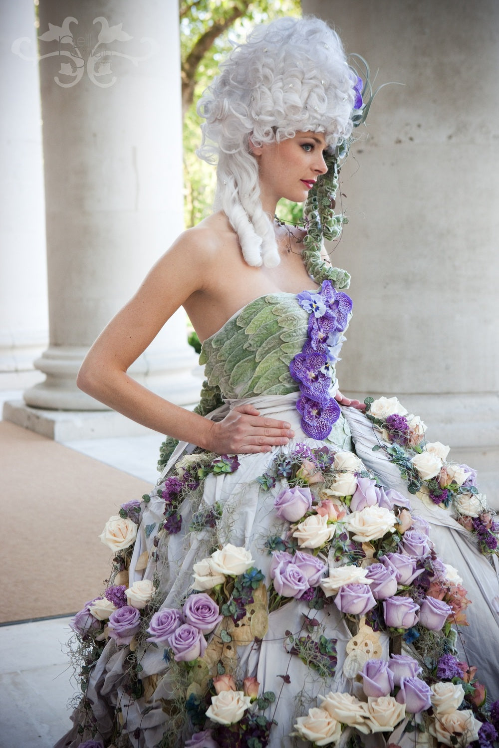 Wedding gown designed by Neill Strain in collaboration with Ian Stuart. Photographer: Tamara Peel