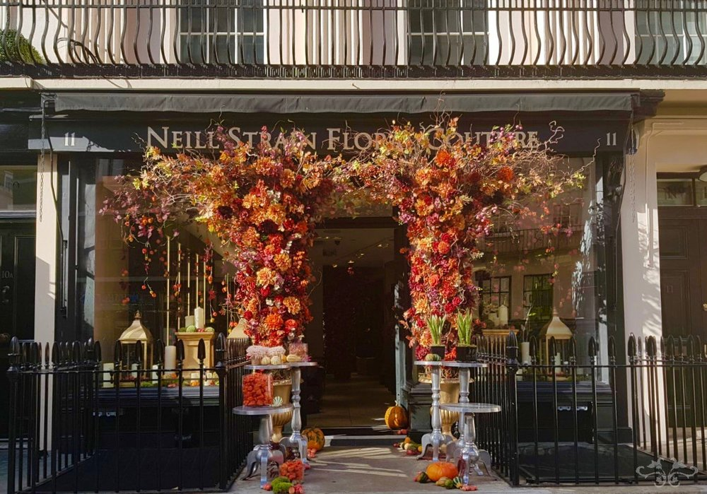 Autumn has arrived in Belgravia at the Neill Strain Floral Couture boutique
