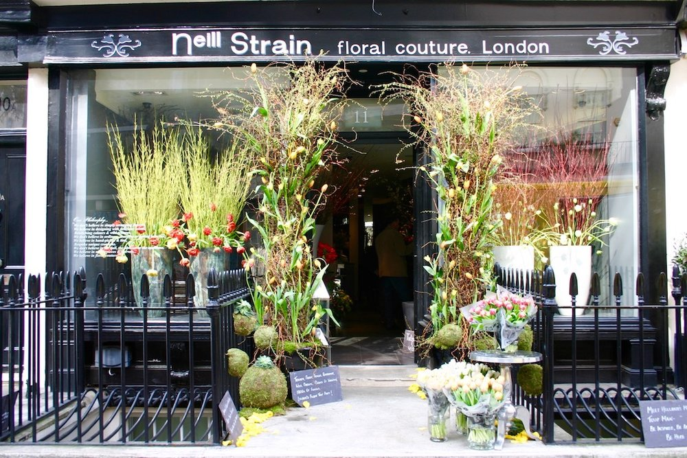 Neill Strain Floral Couture boutique on West Halkin Street in Belgravia