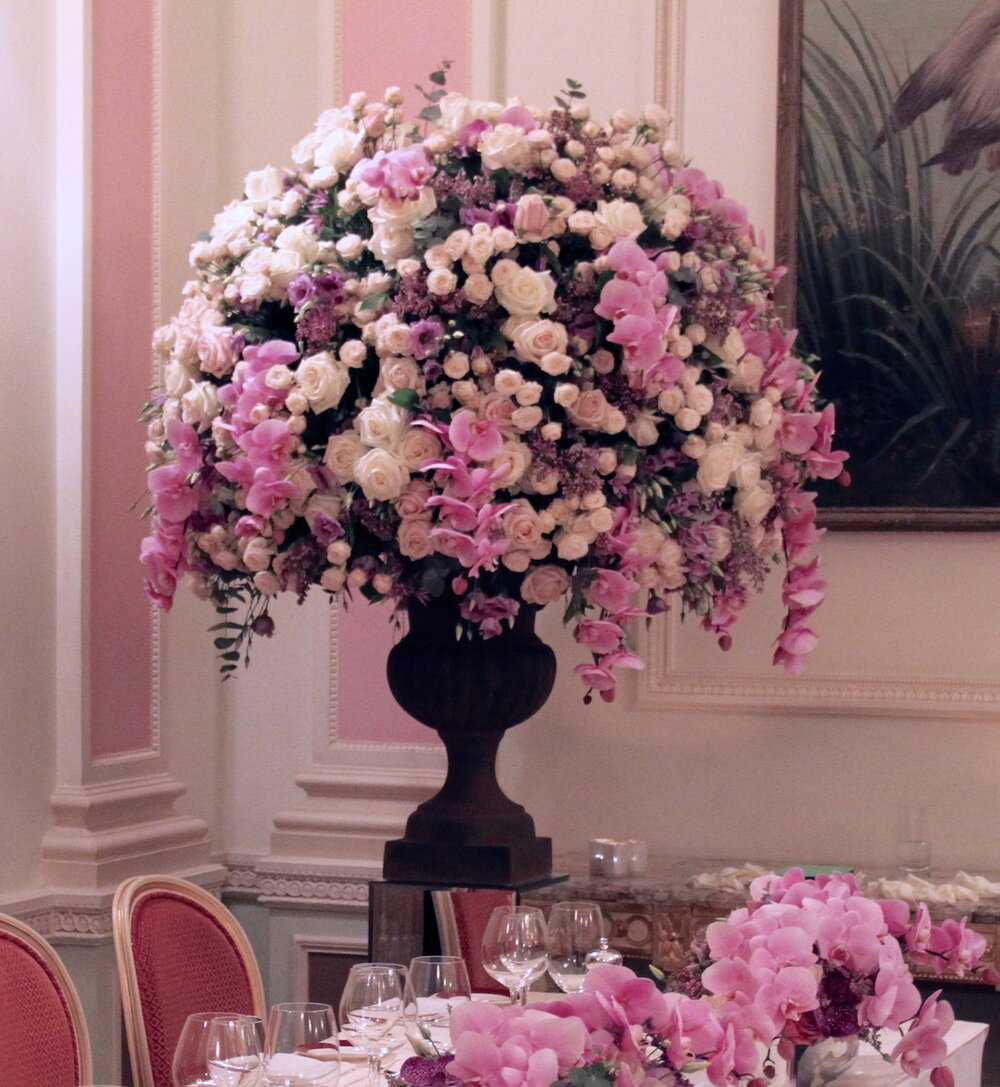 Wedding table at the Ritz Hotel
