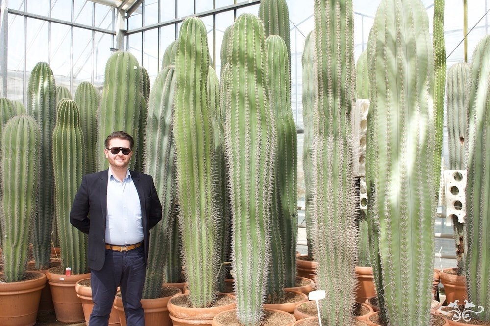 Visiting the Cacti grower