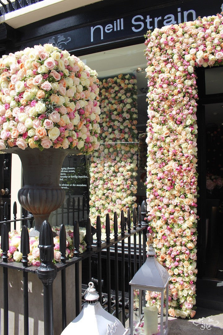 Spectacular installation of over 3,000 Avalanche Roses from Meijer with spray Rose and Hebe for A Celebration of the Rose