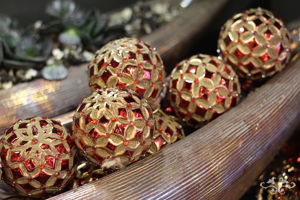 Neill Strain red gold Christmas decorations.jpg